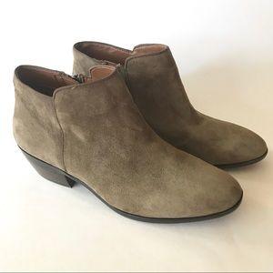 Sam Edelman Genuine Suede Olive Zip Ankle Booties